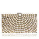 Charming Polyester/Imitation Pearl Clutches/Minaudiere