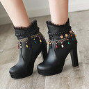 Women's PU Stiletto Heel Boots Ankle Boots With Zipper shoes