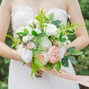 Pretty Free-Form Satin Bridal Bouquets -