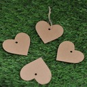 Heart Shaped Kraft Paper Tags (Set of 50)