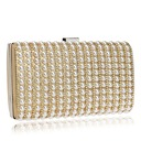 Elegant Polyester/Imitation Pearl Clutches/Minaudiere