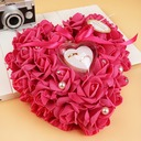 Lovely Ring Pillow in Soap Flower With Ribbons/Flowers