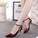 Women's Leatherette Low Heel Sandals Pumps shoes
