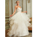 Ball-Gown Sweetheart Court Train Tulle Wedding Dress With Beading (002127643)