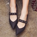 Women's Leatherette Chunky Heel Pumps Closed Toe Mary Jane With Buckle Others shoes