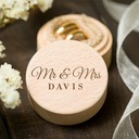 """Mr. & Mrs.""/Personalized Wood Ring Box"