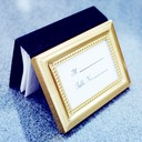 4 x 3 inch Gold Photo Album and Place Card Holder DIY Party Decoration (Sold in a single piece)