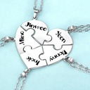 Personalized Unisex Chic 925 Sterling Silver With Heart Engraved Necklaces Necklaces For Bridesmaid/For Friends