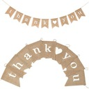 """Thank you"" Hemp Rope/Linen Banner (9 pieces)"
