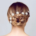 Flower Shaped Rhinestone/Alloy Hairpins(Sold in single piece)