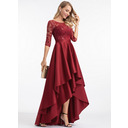 Round Neck 1/2 Sleeves Asymmetrical Dresses (293250304)
