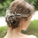 Ladies Beautiful Alloy/Beads Hairpins (Sold in single piece)
