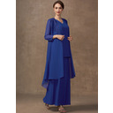 A-Line V-neck Ankle-Length Chiffon Mother of the Bride Dress (008255227)