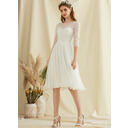 Round Neck 1/2 Sleeves Midi Dresses (293252033)