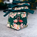 Smiling Flower Other Card Paper Favor Boxes With Ribbons (Set of 50)