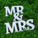 "PVC ""Mr. & Mrs"" Bryllup Dekorationer"
