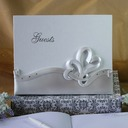 Elegant Double Hearts Guestbook