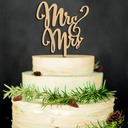 Mr. & Mrs. Wood Cake Topper (Set of 2)