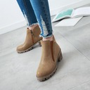 Women's Leatherette Chunky Heel Pumps Boots Ankle Boots With Zipper shoes