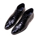 Men's Leatherette Lace-up Chukka Casual Dress Shoes Men's Boots
