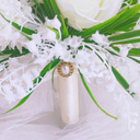 Classic Hand-tied Satin/Imitation Pearl/Artificial Flower Bridal Bouquets/Bridesmaid Bouquets (Sold in a single piece) - Bridal Bouquets/Bridesmaid Bouquets