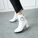 Women's Leatherette Chunky Heel Pumps Boots Ankle Boots With Others shoes