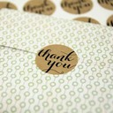 24pcs R3.5cm Thank You Stickers DIY Gift Wrapping Materials