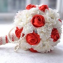 Delicate Round Satin/Artificial Silk Bridal Bouquets