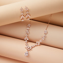 Non-personalized Ladies' Beautiful Zircon Jewelry Sets For Her