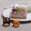 """Owl Always Love You"" Ceramic Salt & Pepper Shakers With Ribbons (Set of 2 pieces)"
