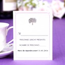 Personalized Tree Design Pearl Paper Response Cards (Set of 50)