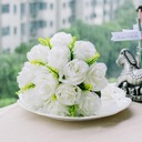 Charming/Ivory Round Satin Bridesmaid Bouquets -