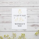 Bridesmaid Gifts - Classic Elegant Paper Wedding Day Card