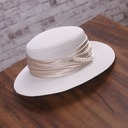 Ladies' Elegant Papyrus With Imitation Pearls Straw Hats/Kentucky Derby Hats