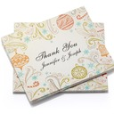 Personalized Geometric Design Paper Thank You Cards (Set of 50)