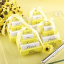 Lemon yellow memo notepad Summer Wedding Party Favor (Sold in a single piece)