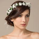 Glamourous Foam/Paper Flower Girl's Headwear/Flowers & Feathers