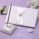 Beautiful Rhinestones/Bow Guestbook & Pen Set