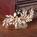 Ladies Glamourous Rhinestone/Alloy Combs & Barrettes With Rhinestone (Sold in single piece)
