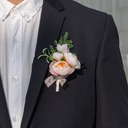 Lovely Free-Form Satin Boutonniere (Sold in a single piece) -