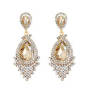 Elegant Alloy Rhinestone Earrings For Bride