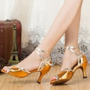 Women's Leatherette Sandals Latin With Ankle Strap Dance Shoes