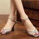 Women's Leatherette Sandals Pumps Latin With Hollow-out Dance Shoes