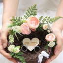 Bird Nest Twig Ring Holder With Artifical Flower