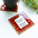 """Tea Time"" Square Glass Tea Party Favors (Set of 2 pieces)"
