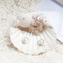 Beach Themed/Delicate Seashell Ring Holder With Petals