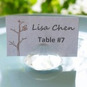 Crystal Diamond-Shaped Place Card Holder Wedding Decorationl