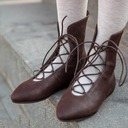 Women's Leatherette Flat Heel Flats Boots With Lace-up shoes