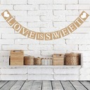 """Love is sweet"" Card Paper Photo Booth Props/Banner (12 Pieces)"
