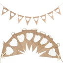 Heart Shaped Hemp Rope/Linen Banner (8 Pieces)